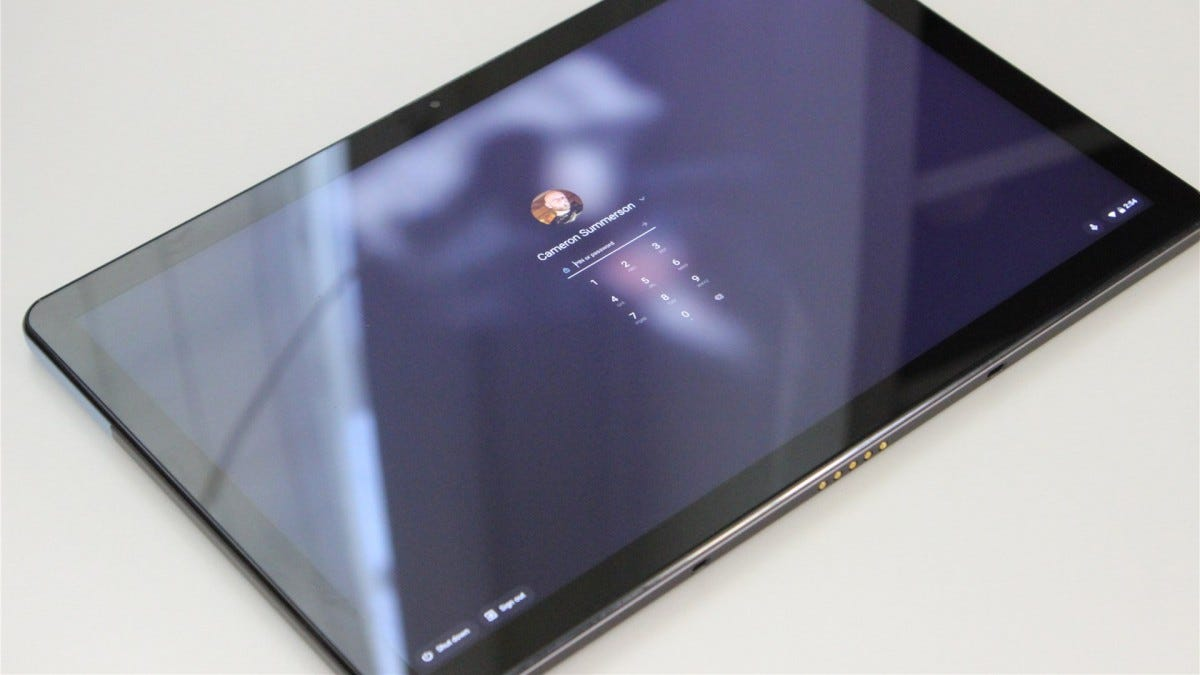 The Lenovo IdeaPad Duet in tablet mode