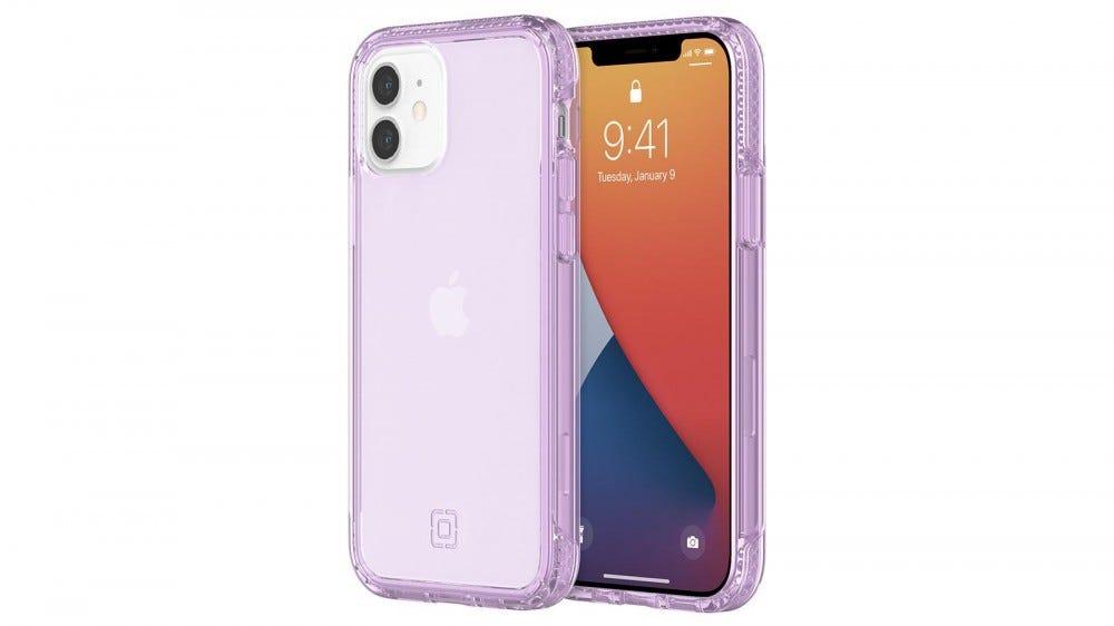 Incipio Slim phone case in translucent lilac purple