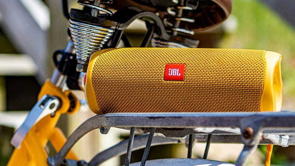 JBL Flip 5 on bike rack