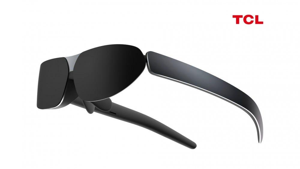 Szemüveghez hasonlító viselhető kijelző.