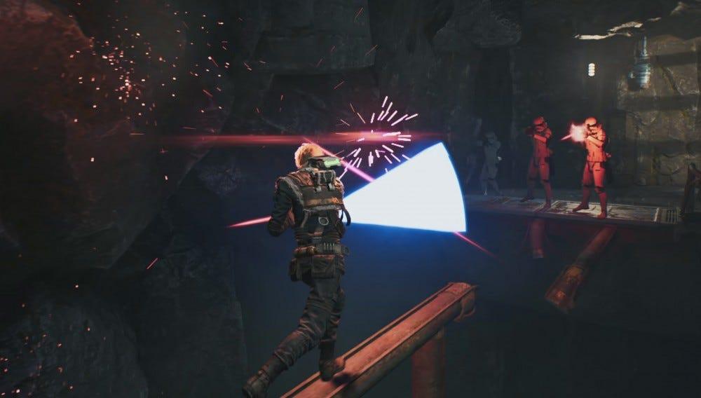 Jedi: Fallen Order---blocking blaster bolts