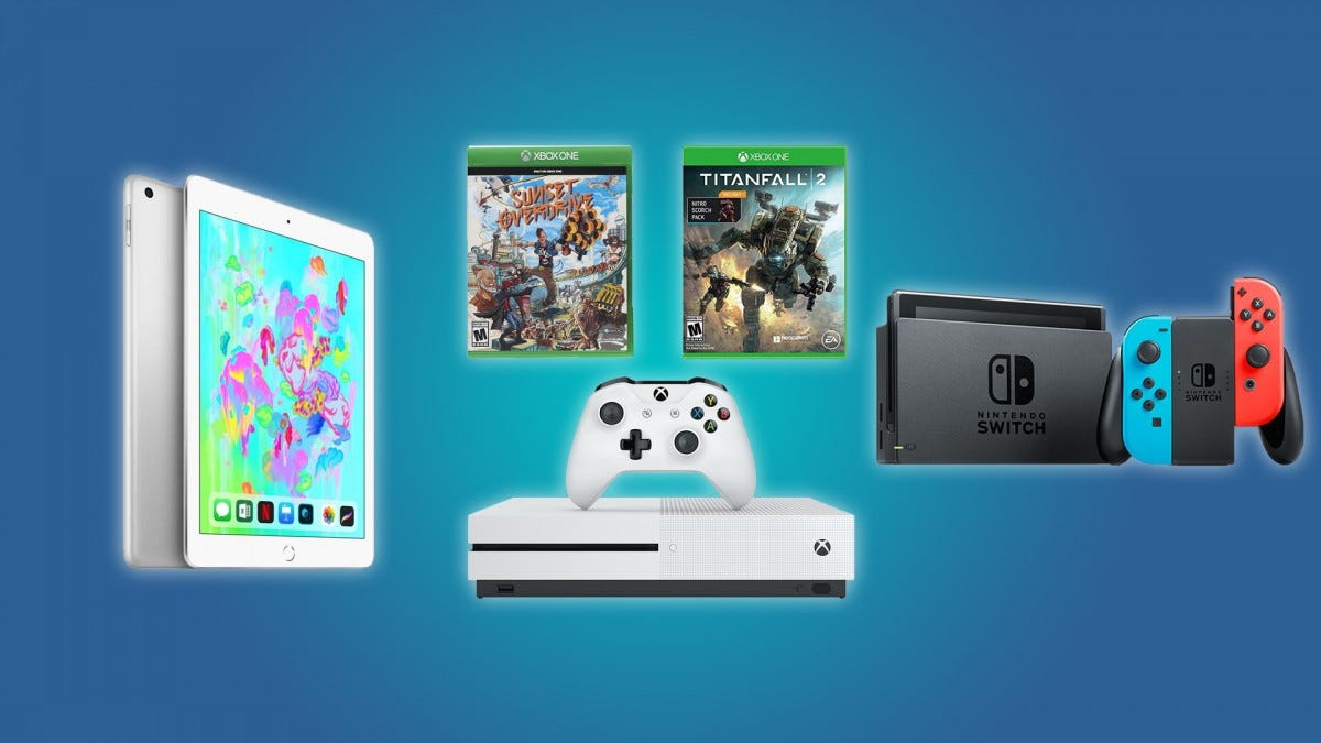 The iPad, the Nintendo Switch, and the Xbox One S