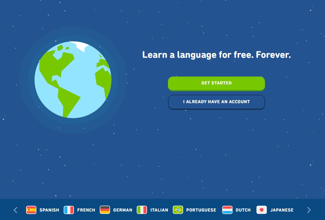 Duolingo Homepage