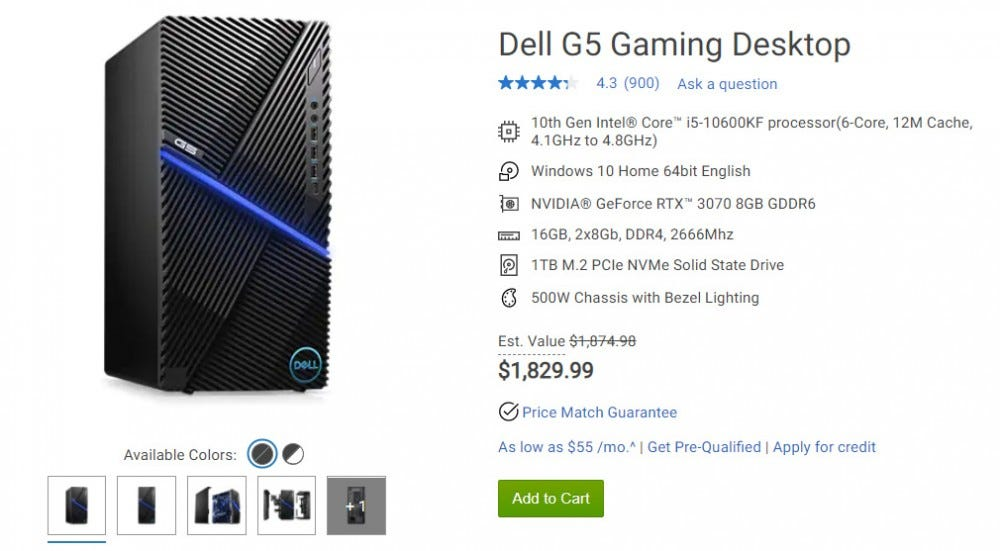 Dell gaming desktop