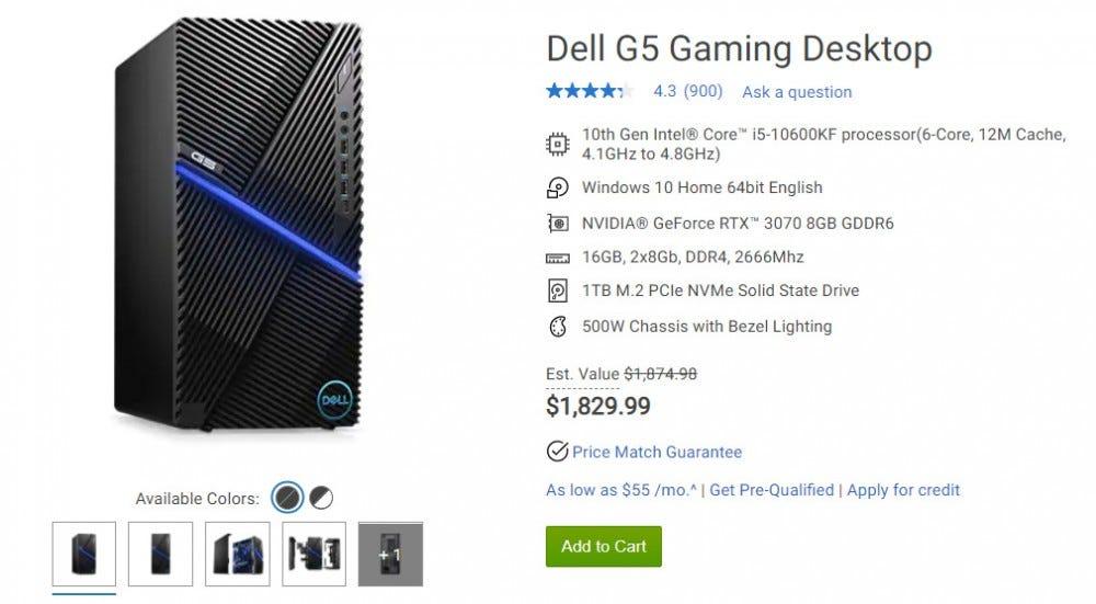 Dell játékasztal