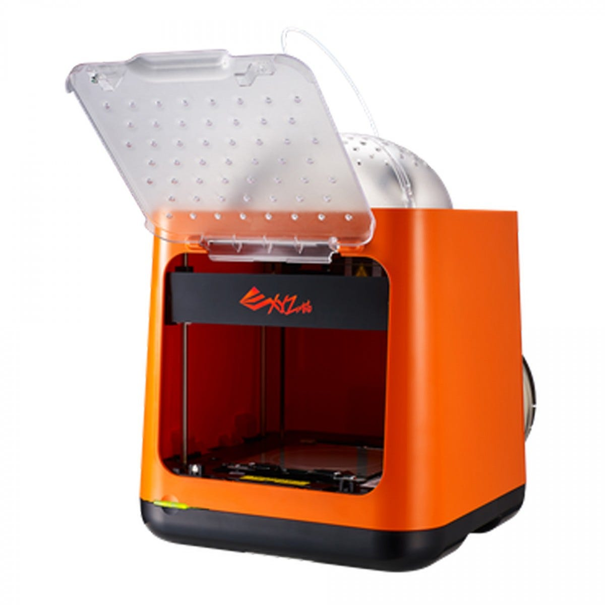 Nano 3D printer with the front cover open.