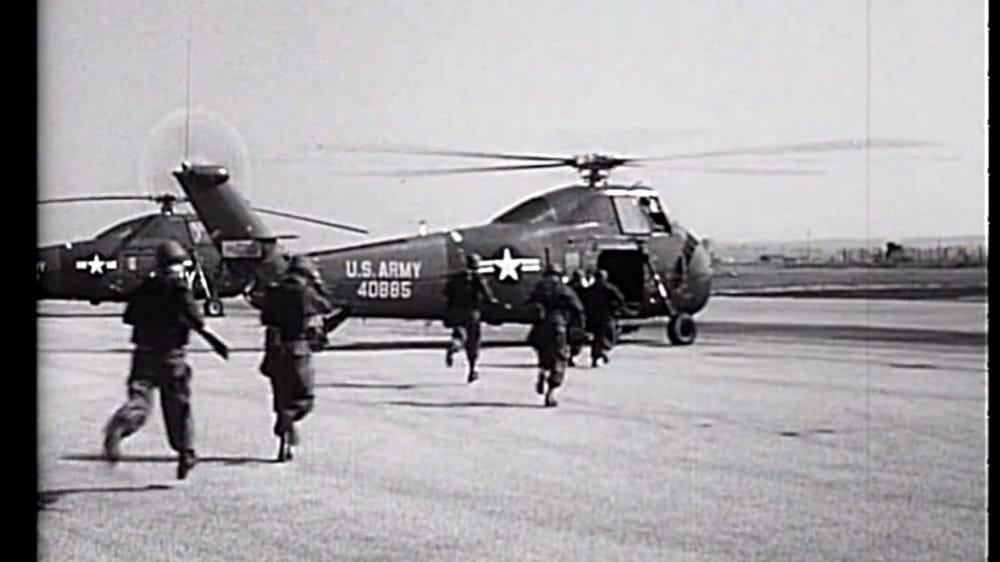 A still from Sprocket Flicks 'Cold War Films' archival tapes.