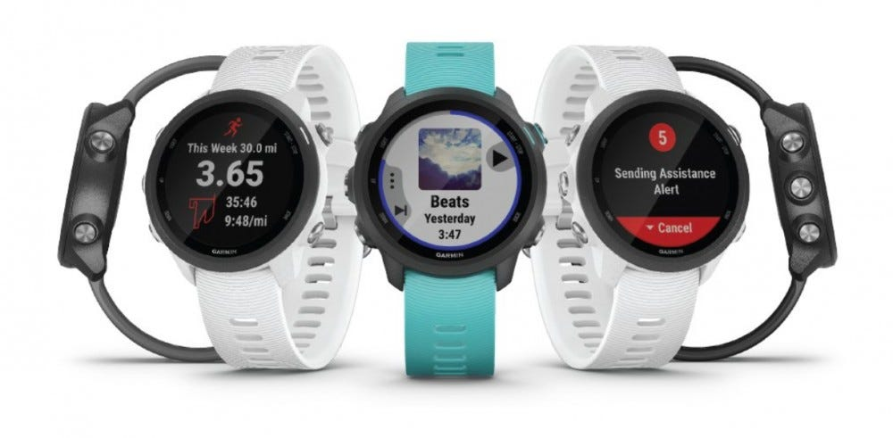 garmin 245 music color options