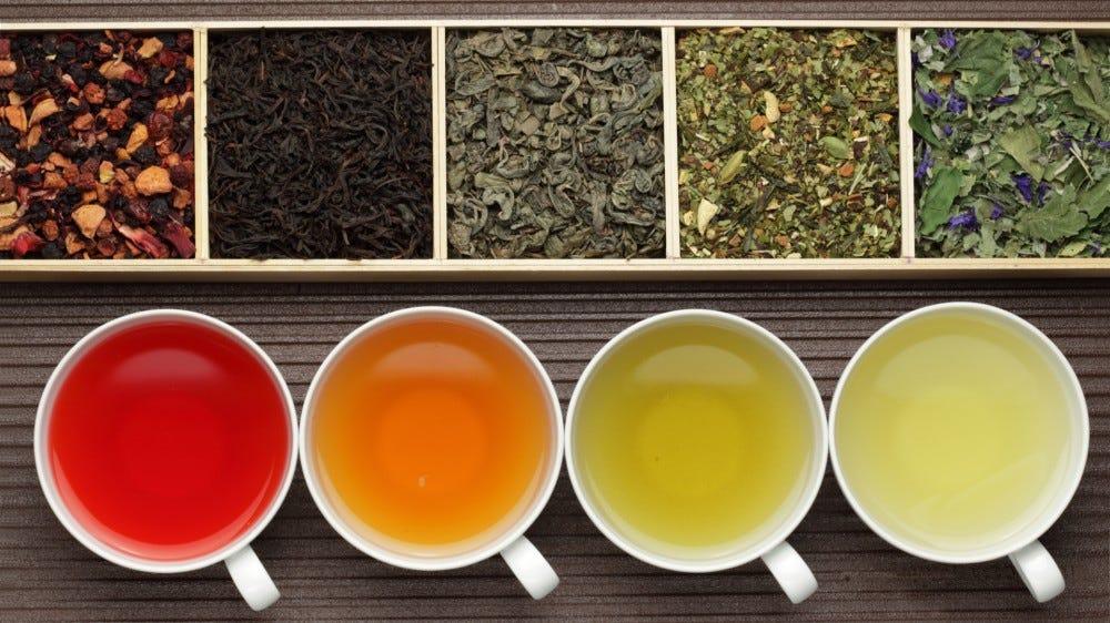 Tea Subscription Boxes hero black tea green tea fruit tea boxes teacups