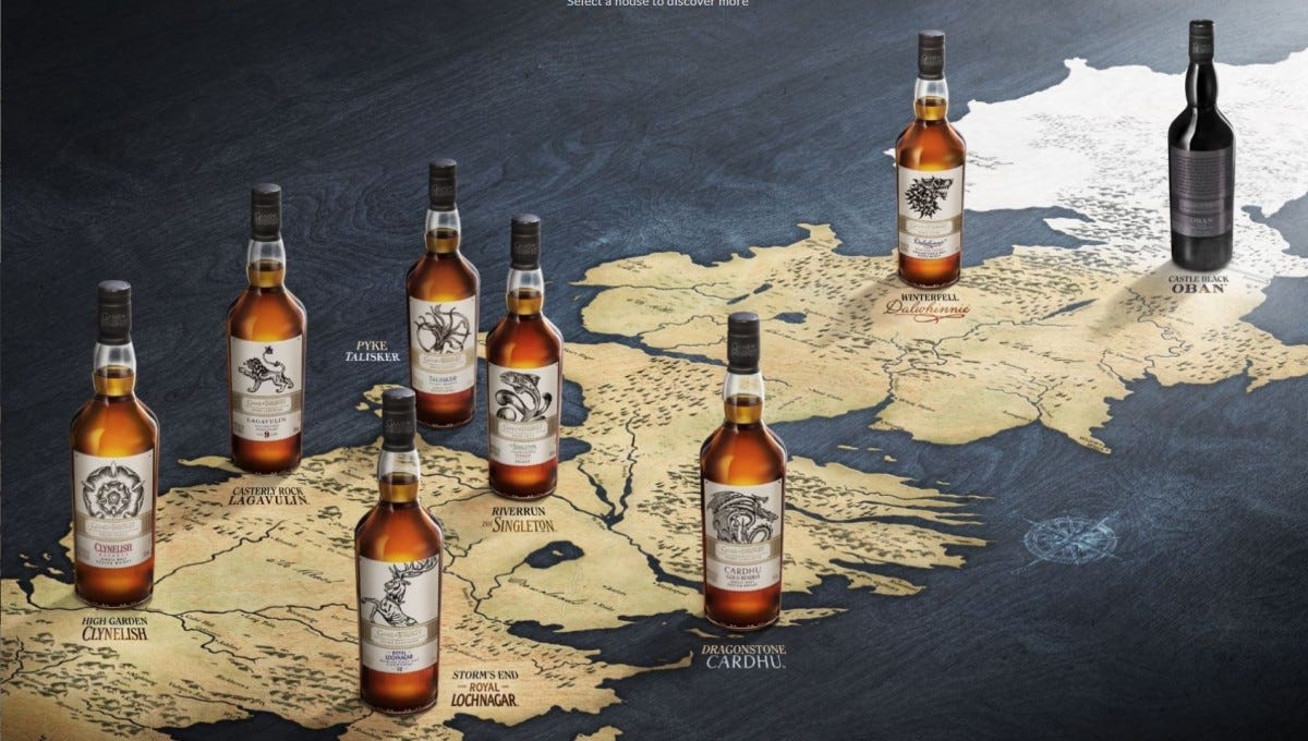 This collection of whiskeys is based on locations and armies in Westeros.