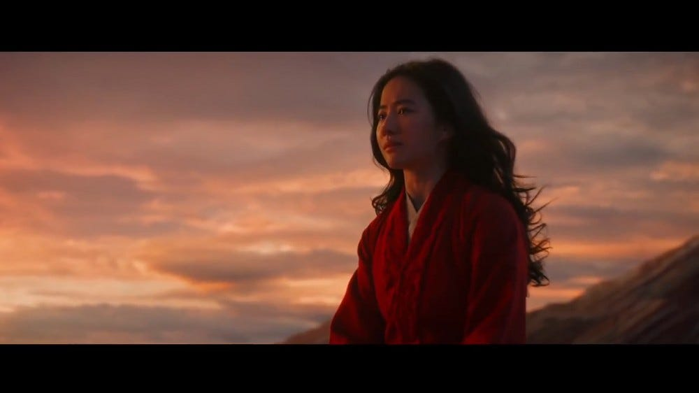 A still from the 'Mulan' trailer.