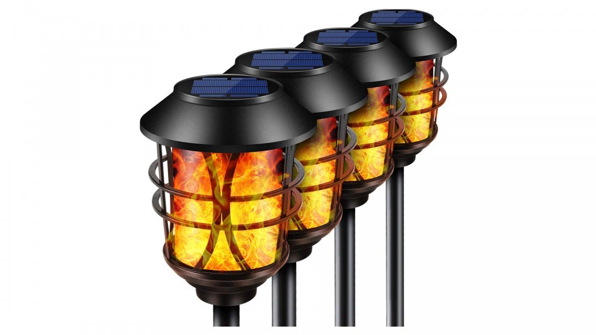 The TomCare Solar Powered Torch Lights