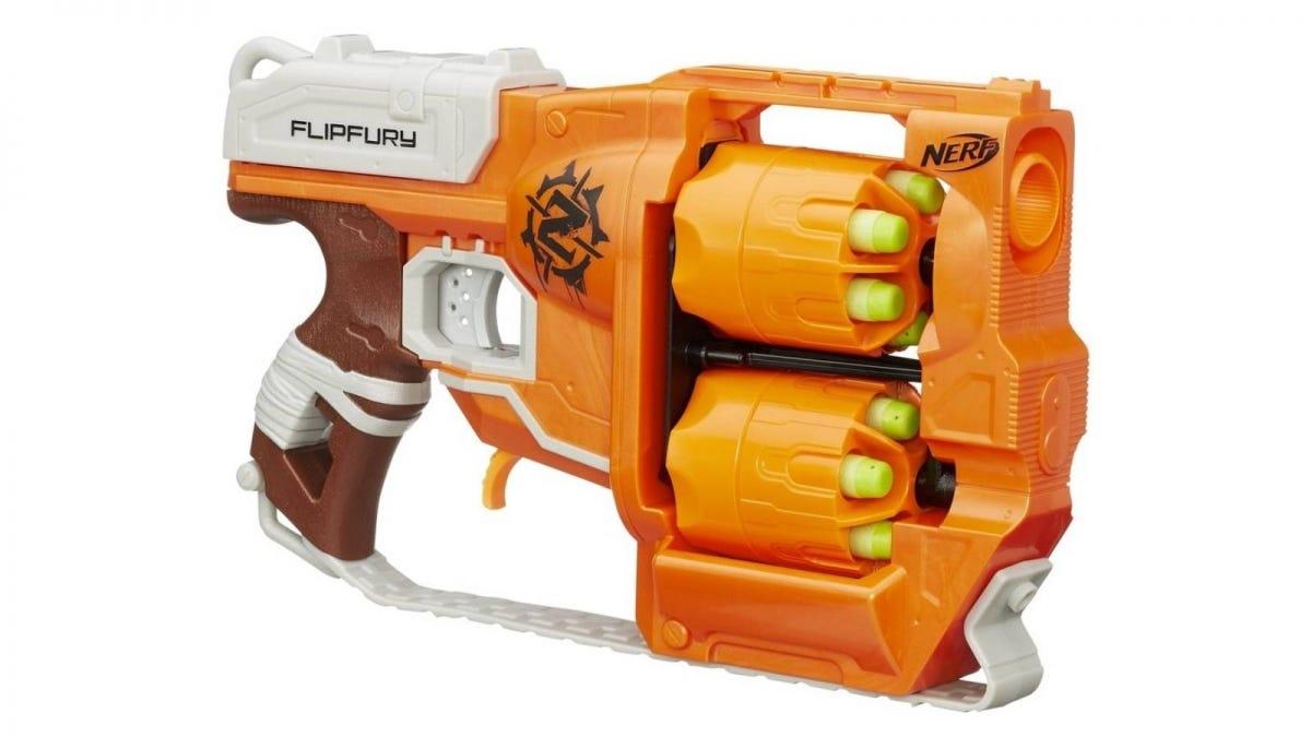 The Nerf Zombie Strike FlipFury Blaster.