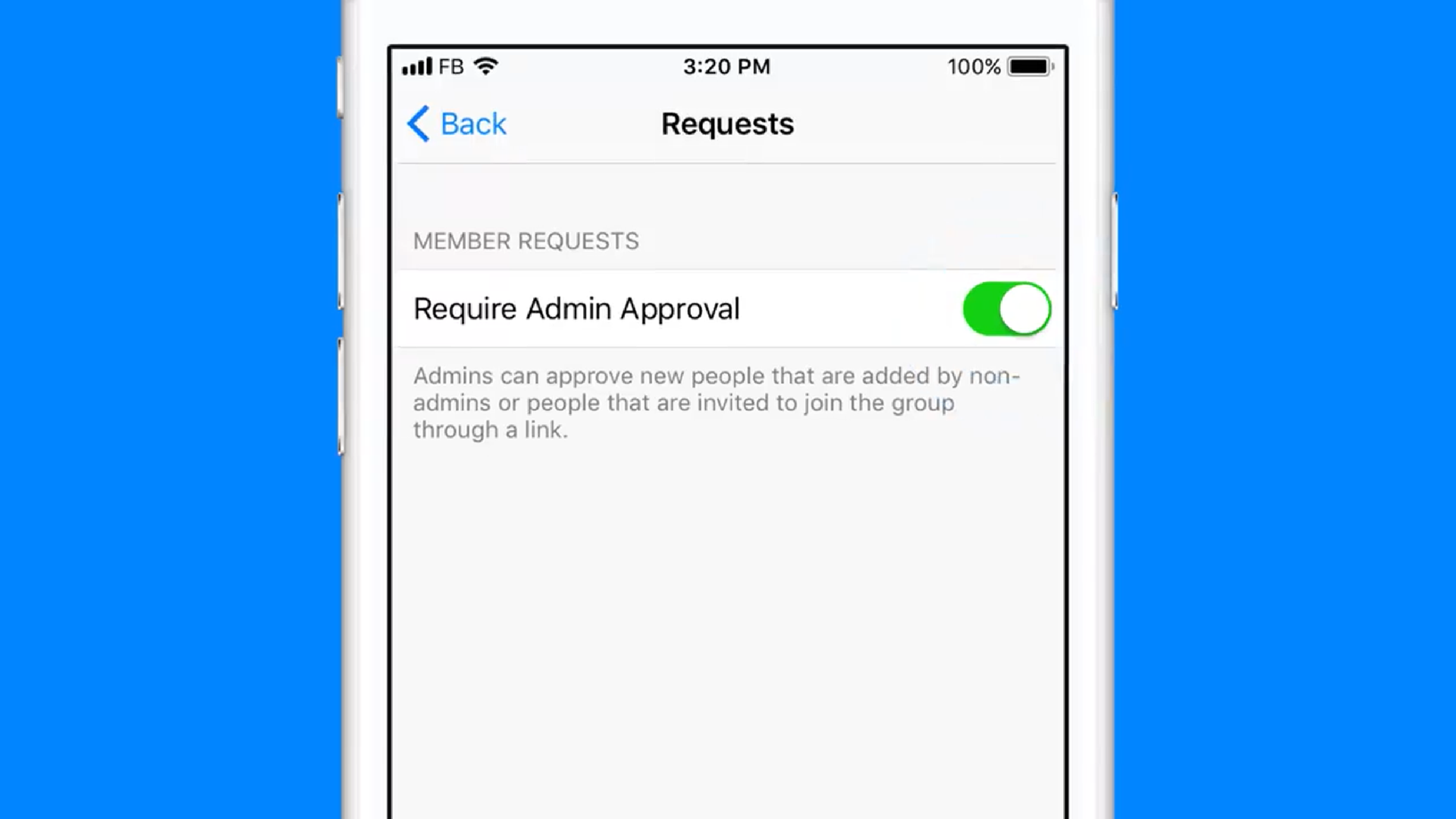 Admin Or facebook messenger now has admin tools to manage your