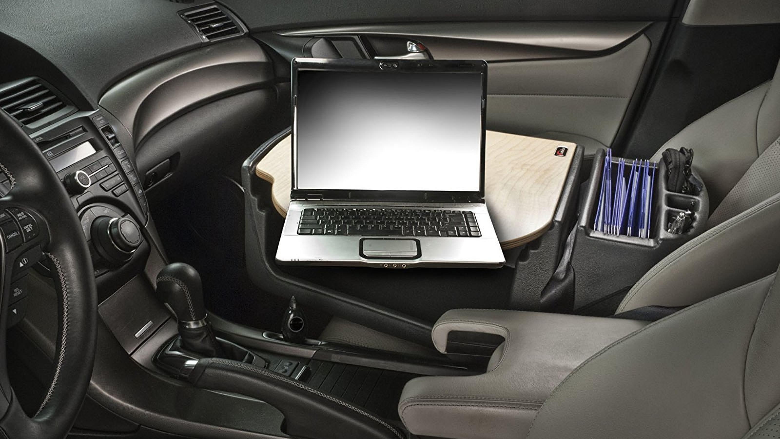 Car Steering Wheel Tray Table Laptop Stand Work Desk Drink Holder Clip Mount