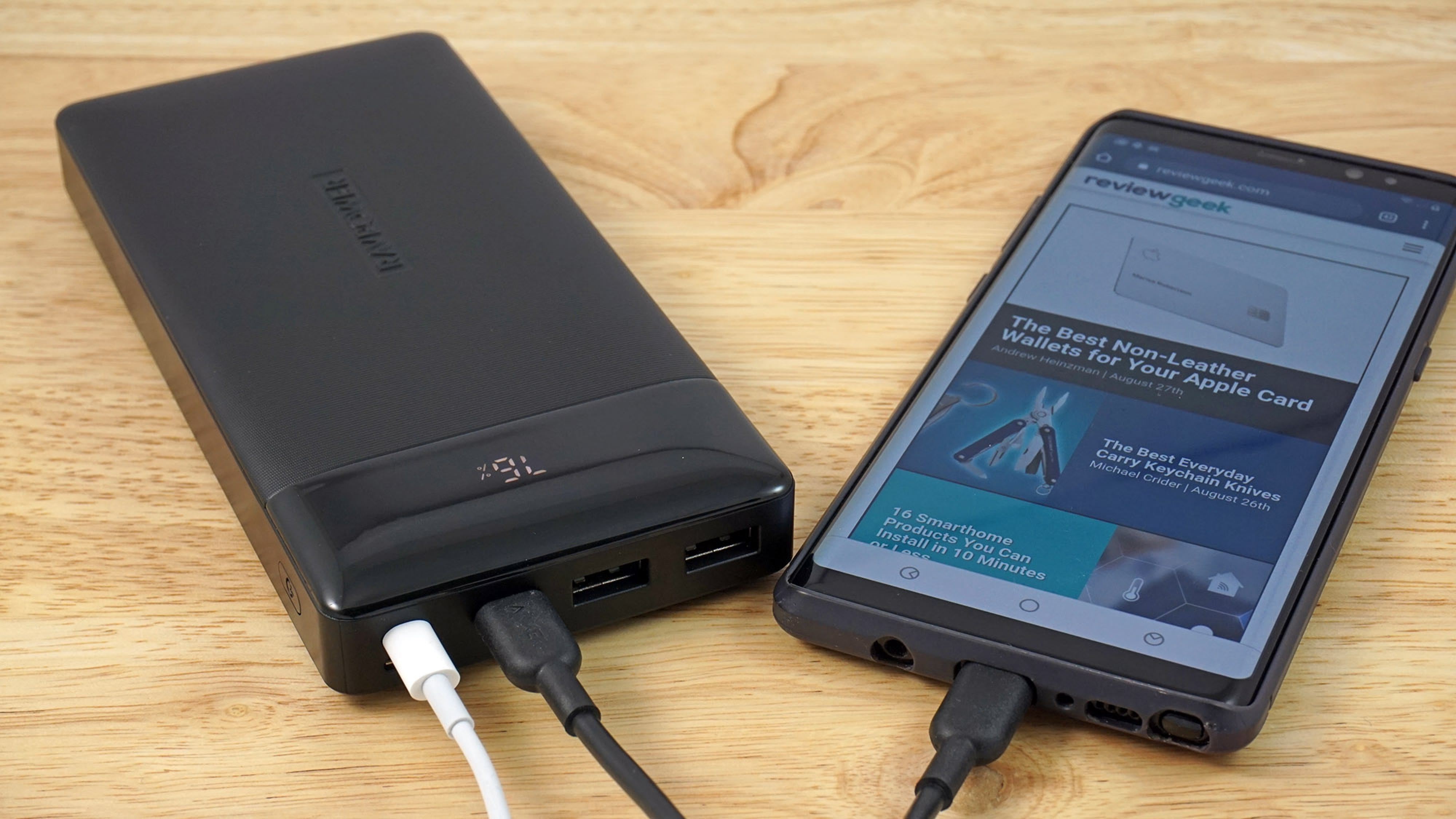 This 20,000 mAh RAVPower Battery Charges Up with Whatever Cable You Want
