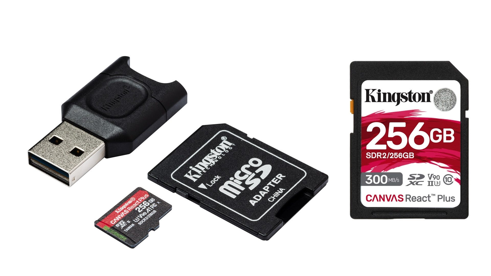 Image result for Kingston's Canvas React Plus SD card png