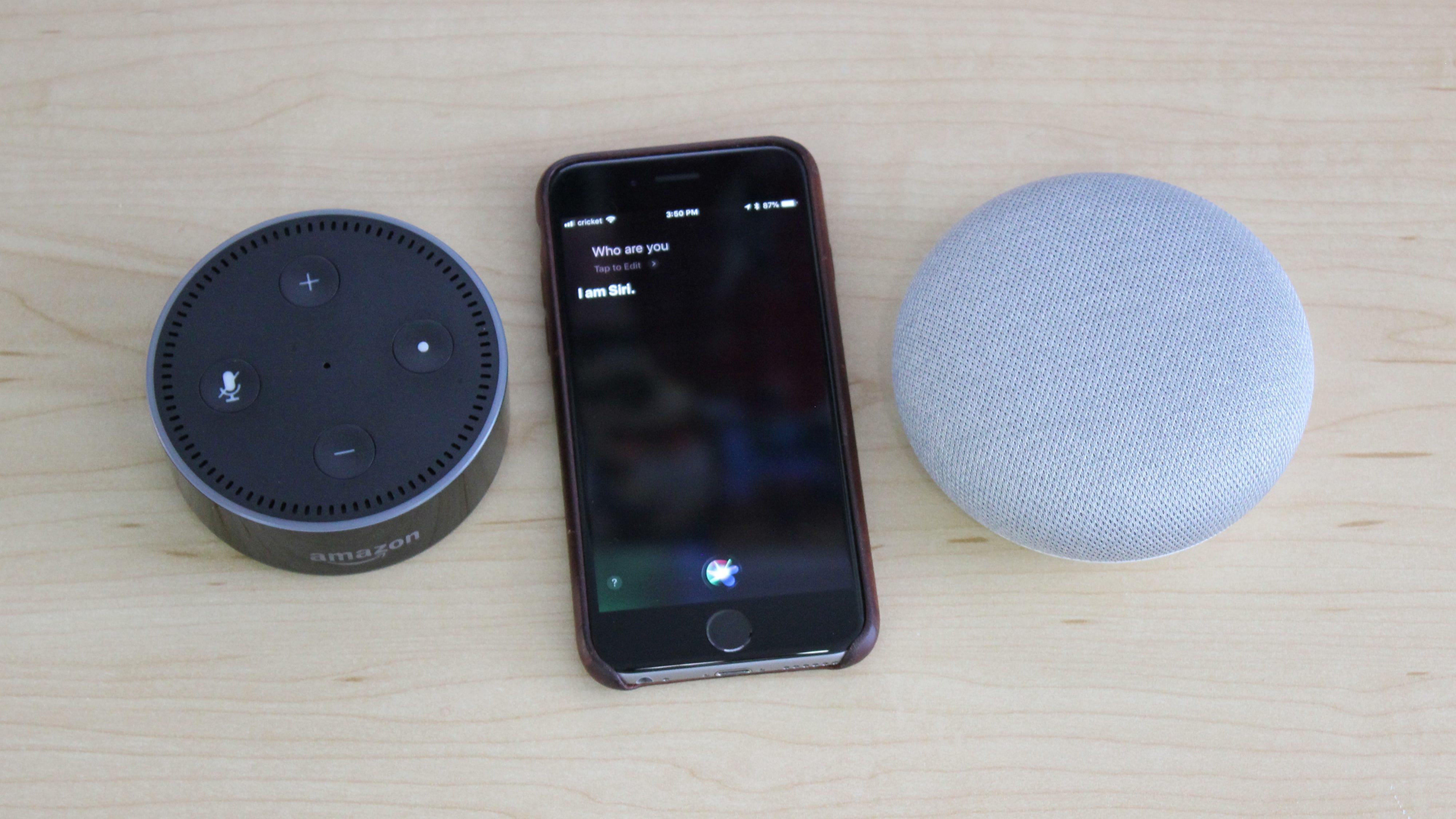 Alexa vs  Google Assistant vs  Siri: A Curious Question Face