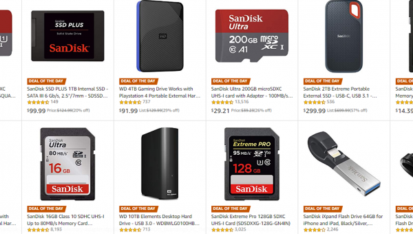 Deal Alert: Amazon is Heavily Discounting SD Cards, SSDs