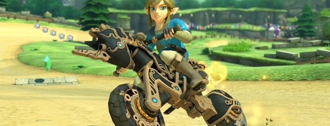 Mario kart 8 is getting breath of the wild s link and his motorcycle review geek - How do you get the master cycle zero ...