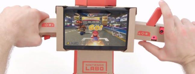 Sie können Mario Kart 8 spielen Mit dem Labo Motorrad-Controller, der ein Traum wahr wird