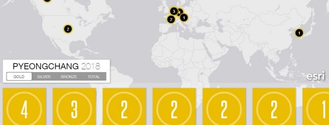 Verfolgen Sie die Medaillen der Winterolympiade mit dieser Low-Key-Bildungskarte