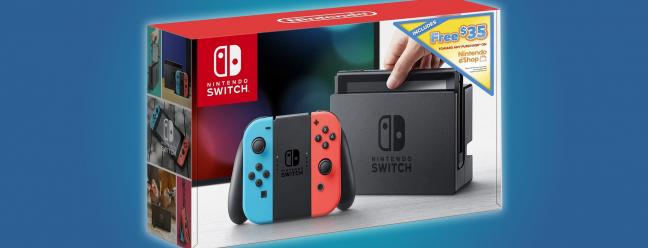 Gamer Deal: Kaufen Sie einen Nintendo Switch und erhalten Sie einen eShop-Gutschein in Höhe von 35 $