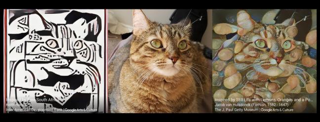 Dịch vụ chuyển giao nghệ thuật AI miễn phí cho con mèo của tôi đã biến thành một bức tranh cổ điển 1