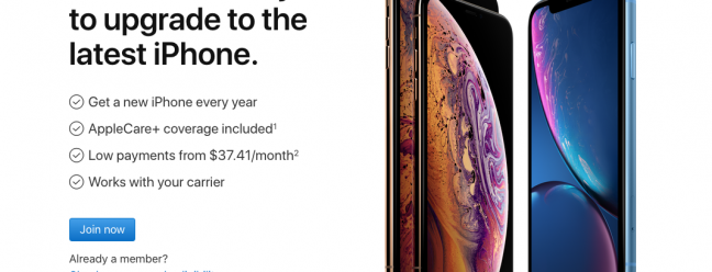 The iPhone upgrade program does not work with prepaid