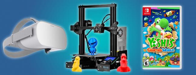 Tägliche Angebote: SainSmart 3D-Drucker für 180 US-Dollar, Oculus Go für 200 US-Dollar, Yoshi´s Crafted World für 47 US-Dollar und mehr