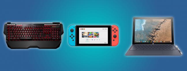 Tägliche Angebote: Ein Nintendo Switch im Wert von 265 US-Dollar, ein Gaming-Keyboard im Wert von 60 US-Dollar, ein Chromebook im Wert von 360 US-Dollar und mehr